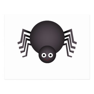 Whimsical Halloween spider Post Card