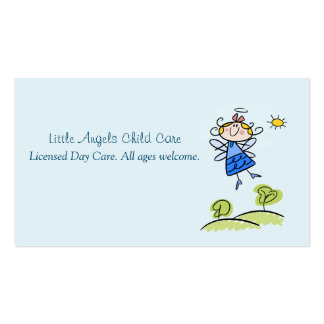 Whimsical Happy Angel Fairy Flying Outside Business Card