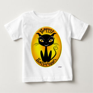 Whimsical Happy Halloween Cat Baby T-Shirt