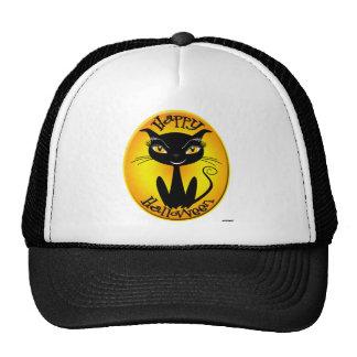 Whimsical Happy Halloween Cat Trucker Hat