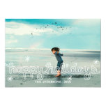 Whimsical Happy Holidays Snowflakes Photo Card