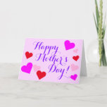 "[ Thumbnail: Whimsical ""Happy Mother's Day!"" Greeting Card ]"