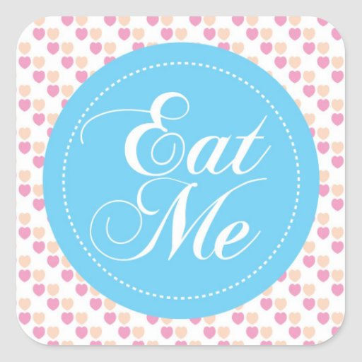 Whimsical heart Eat Me Candy Buffet Sticker