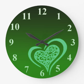 Whimsical Heart Large Wall Clock by Janz