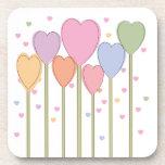 Whimsical Heart Lollipops Beverage Coaster