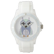 Whimsical Heart Pattern   Owl Watch