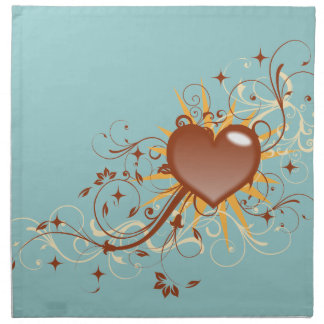 Whimsical Heart Swirls Napkins
