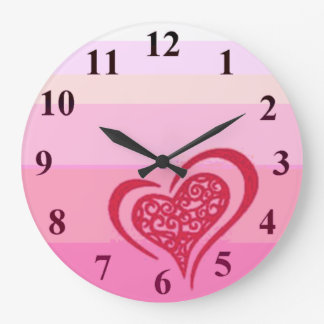 Whimsical Heart Wall Clock Large