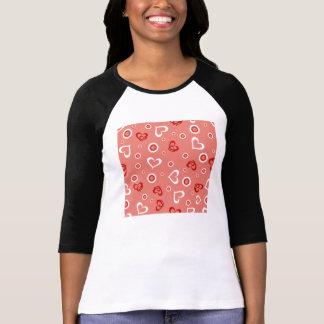 Whimsical Hearts & Dots Design T-Shirt