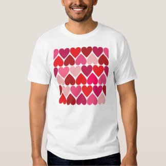 """Whimsical Hearts """"In Love"""" Design T-Shirt"""