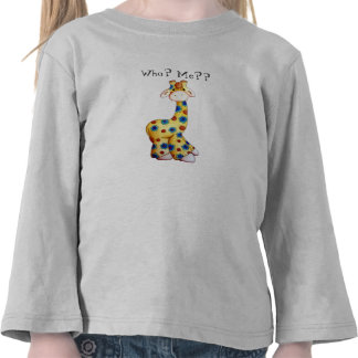 Whimsical Hippie Giraffe Funny Toddler T-Shirt