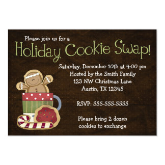 Whimsical Holiday Cookie Swap Invitations