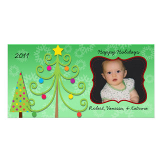Whimsical Holiday Customized Photo Card