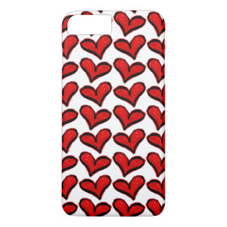 Whimsical Holiday Hearts iPhone 8 Plus/7 Plus Case