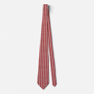 Whimsical Holiday Hearts Neck Tie