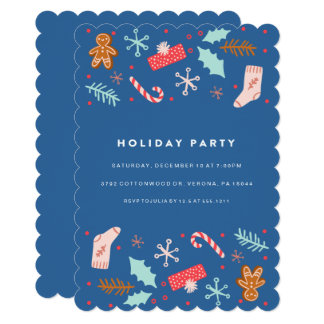 Whimsical Holiday Party Invitation