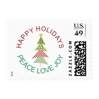 Whimsical Holiday Tree Postage