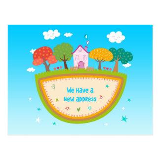 Whimsical Home Change of Address Postcard