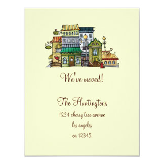 Whimsical Home Moving Announcement
