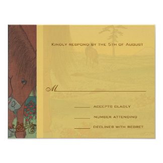 Whimsical Horse Wedding Response Card