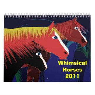 Whimsical Horses2011 Calendars