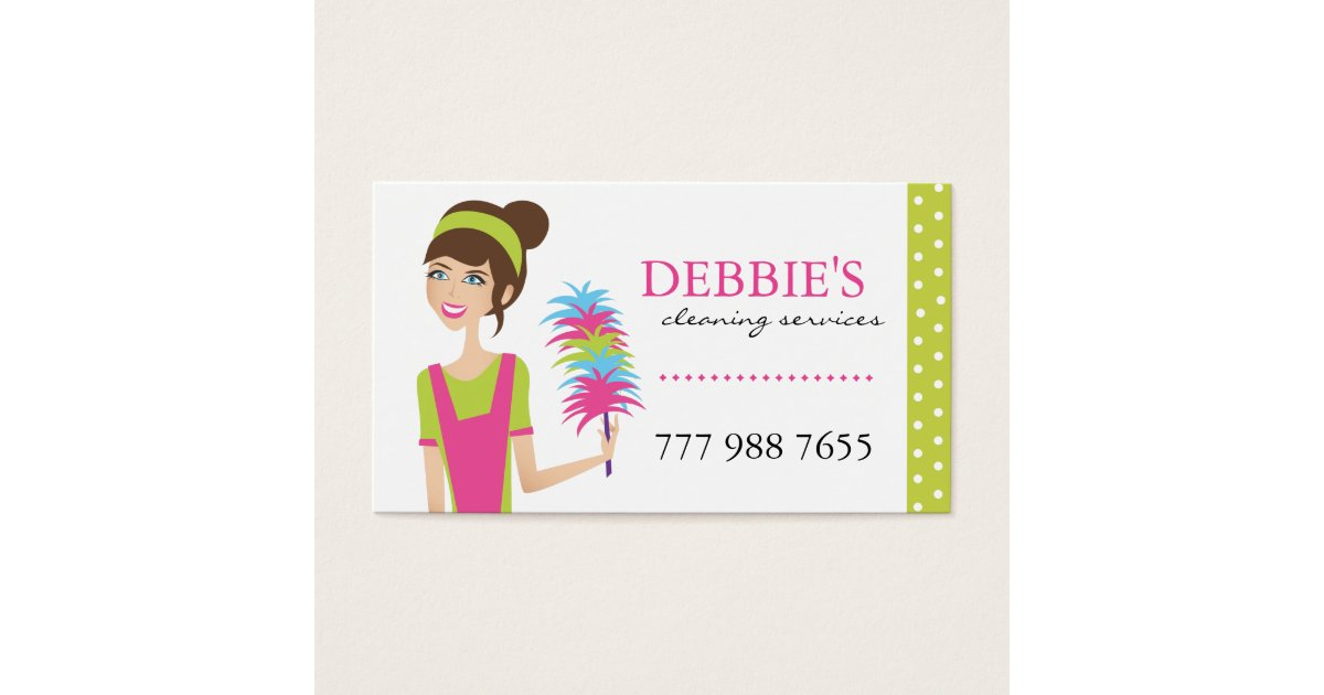 how to clean an iphone whimsical house cleaning services business cards zazzle 9705