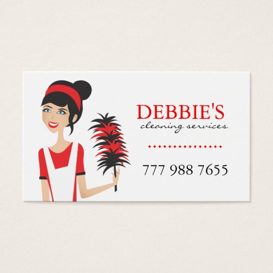 Whimsical House Cleaning Services Business Cards Zazzlecom