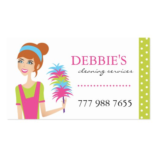 Whimsical house cleaning services business cards zazzle for House cleaning business cards templates