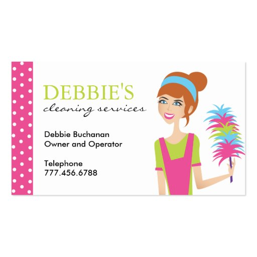 Whimsical house cleaning services business cards zazzle for Business cards for house cleaning