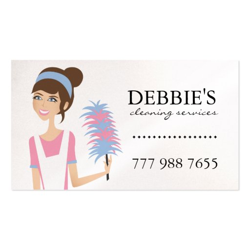 Whimsical House Cleaning Services Business Cards Business
