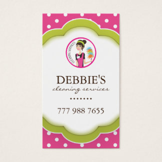 Whimsical Housekeeper Business Card