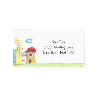 Whimsical Houses Address Labels
