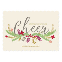 Whimsical Illustrated Garland | Holiday Photo Card