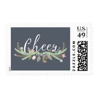 Whimsical Illustrated Garland | Holiday Stamp