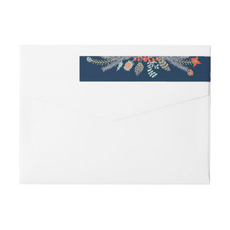 Whimsical Illustrated Garland Wrap Around Label