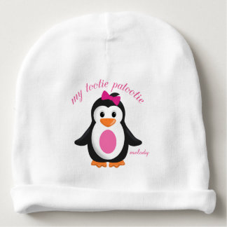 Whimsical Infant Baby Penguin My Tootie Patootie Baby Beanie
