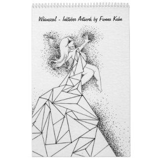 Whimsical - Inktober Artwork by Fionna Kuhn Calendar