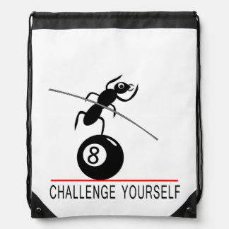 Whimsical insect on 8-ball backpack