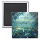 Whimsical Inspiring Dreams Quote Magnet