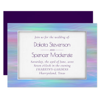 Whimsical Iridescence   Rainbow Watercolor Wedding Invitation