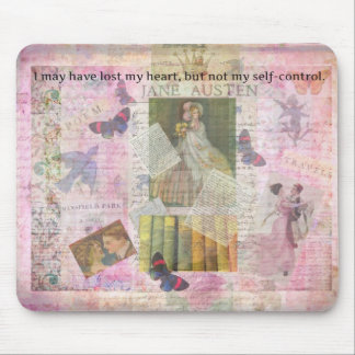 whimsical Jane Austen LOVE quote from Emma Mousepads