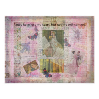 whimsical Jane Austen LOVE quote from Emma Poster
