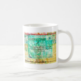 Whimsical JANE AUSTEN Pride and Prejudice QUOTE Coffee Mug