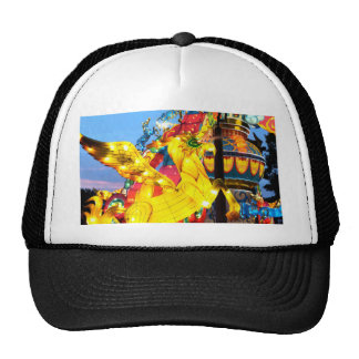 Whimsical Japanese Unicorn Lantern Trucker Hat