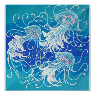 WHIMSICAL JELLYFISH POSTER