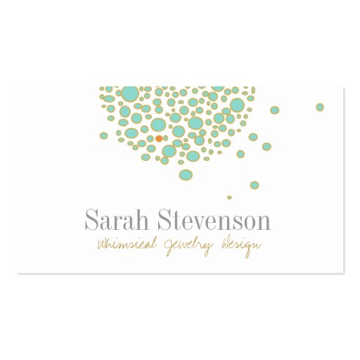 Whimsical Jewelry Designer Business Card
