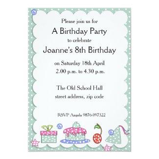 Whimsical Kid Birthday Invitation