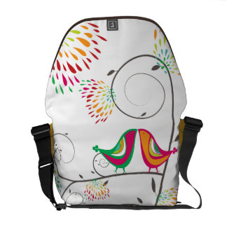Whimsical Kissing Summer Birds Colorful Cute Bag