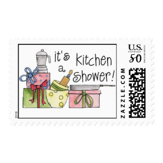 Whimsical Kitchen Shower Postage