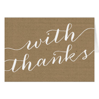 Whimsical Kraft Thank You Stationery Note Card